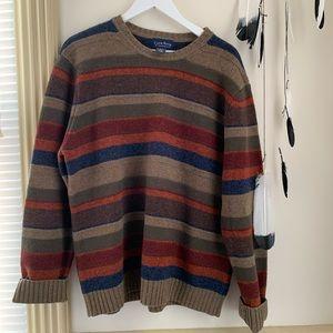 Club Room Sweaters - Oversized Boyfriend Striped Fall Sweater SZ L